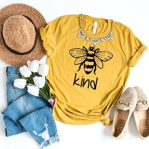 Womens Tops Bee Kind Fashion Graphic T shirt NEW
